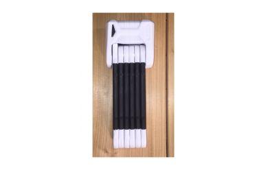 Abus Bordo Granit X-Plus 6505/ Faltschloss 85cm mit Schlüssel weiß