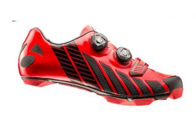 Bontrager XXX MTB Schuh extrem steife Carbonsohle, 2fach Boa Drehverschluss, griffigen Gummistollen, super leicht, Red