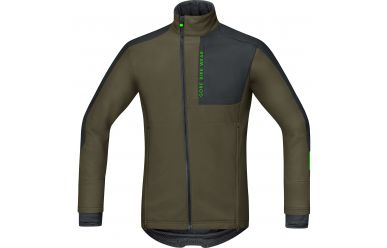 Gore POWER TRAIL Windstopper® Soft Shell Jacke, men, ivy green/black,M