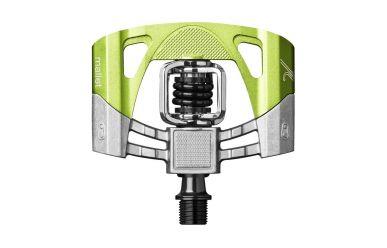 CrankBrothers Mallet 2 ohne Pins Klick/Plattformpedal inkl. Premium Cleats, Raw Lime Green