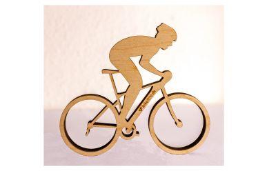 biketime BikerOnBike MounTainBike Holzfigur selbststehend B125mm x H110mm