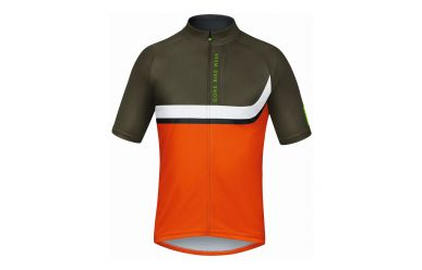 Gore POWER TRAIL Jersey, blaze orange/ivy green, L