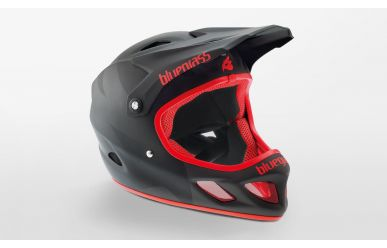 Bluegrass Explicit Full Face Fahrradhelm matt black/ red M 56-58cm