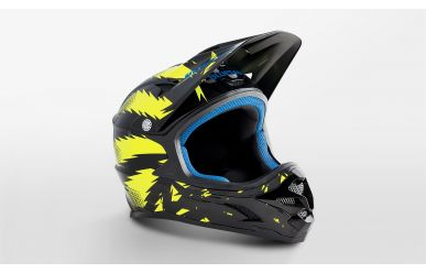 Bluegrass Intox Full Face Fahrradhelm black/ yellow XS 52-54cm