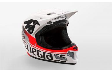 Bluegrass Brave Full Face Fahrradhelm white/ red M 56-58cm