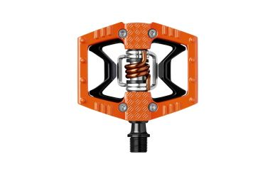 CrankBrothers Double Shot 2 Klick- Plattformpedal Orange Black Orange