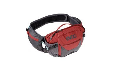 Evoc Hip Pack Pro 3L + 1.5L Trinkblase Carbon Grey  ChiliI Red