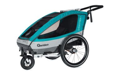 Qeridoo Sportrex 1 Kinderfahrradanhänger Aquamarin