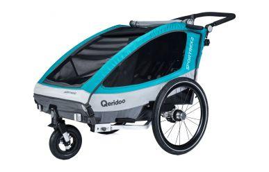 Qeridoo Sportrex 2 Kinderfahrradanhänger Aquamarin