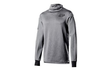 FoxHead Defend Thermo Hooded Jersey Steel Grey