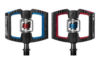 CrankBrothers Mallet DH/Race Klick/Plattformpedal inkl. Premium Cleats, Super Bruni Edition