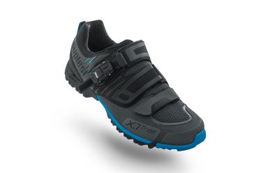 Suplest X1 Trail Trekking Schuh, black dark grey/ blue
