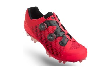 Suplest Edge3 Pro Double Boa Carbon MTB Schuh neon/ red