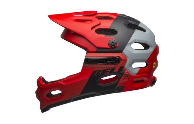 Bell Super 3R Mips Downdraft Mat Crimson Black