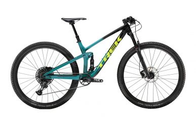 Trek Top Fuel 9.7 Sram NX Eagle Trek Black Teal Fade