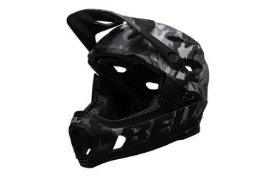 Bell Super DH Mips Fullface Helm Matte Gloss Black Camo
