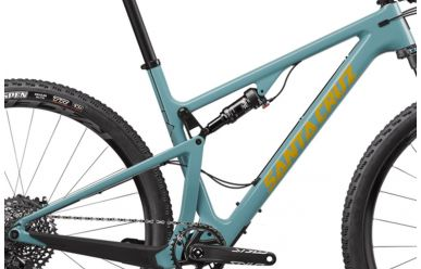 Santa Cruz Blur 3 CC Frameset inkl. Fox Factory Float EVol Dämpfer Gloss Aqua