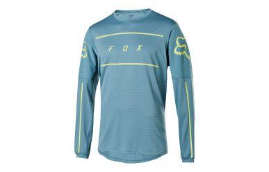 Fox Racing FLEXAIR LS FINE LINE Jersey Men Light Blue