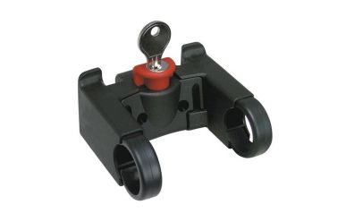 Rixen + Kaul KLICKfix Lenkeradapter mit Schloss, Halter für Taschen, Körbe, Kartenhalter