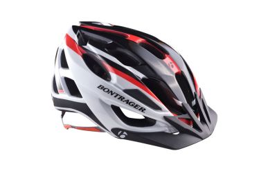 Bontrager Quantum Helm L Red/Weiss