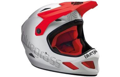 Bluegrass Explicit Full Face Fahrradhelm White / Black /Red M 56-58cm