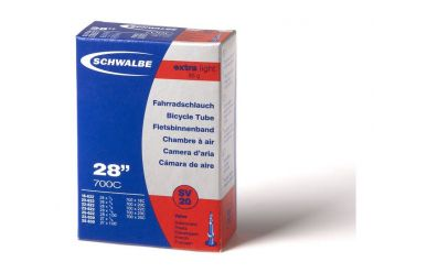"Schwalbe SV20 Schlauch 28"" Extralight Sclaverandventil (SV) 40mm"