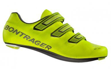 Bontrager XXX LE Rennrad Schuh mit extrem steifer Carbon Sohle und 3fach Klettverschluss super leicht Visibility Yellow