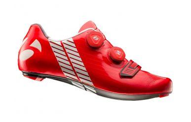 Bontrager XXX Rennrad Schuh extrem steife Carbonsohle, 2fach Boa Drehverschluss, griffigen Gummistollen, super leicht, Red
