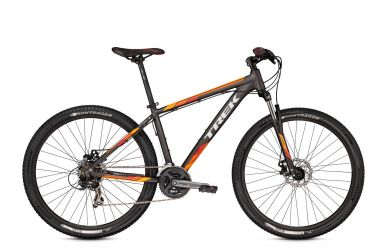 Trek Marlin 5 Matte Dnister Black Rhymes with Orange Red 17.5""