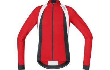 Gore Windstopper Soft Shell Langarm-Trikot, Red Black
