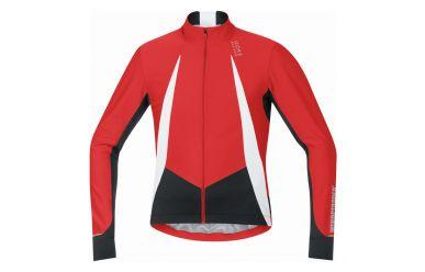 Gore Windstopper Soft Shell kurzarmTrikot, perfekt für die kühle Übergangszeit, Red Black