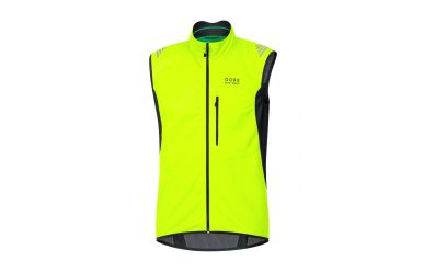 Gore Windstopper Soft Shell Weste Neon Yellow Black