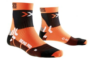 X-Bionic X-Socks Pro Bike Socken Orange Black
