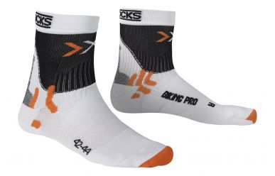 X-Bionic X-Socks Pro Bike Socken White Black