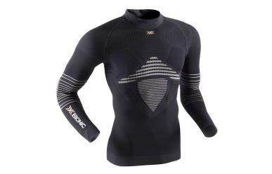 X-Bionic Energizer MK2 Light atmungsktives langarm Unterhemd, hoher Kragen, leichte Kompression Black White