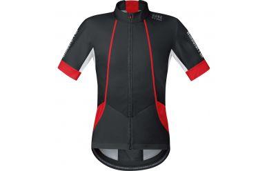 Gore Windstopper Soft Shell kurzarmTrikot, perfekt für die kühle Übergangszeit, Black Red