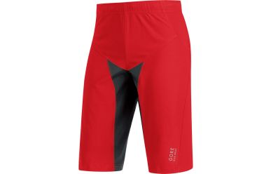 Gore ALP-X PRO Windstopper Soft Shell Shorts, men, red/black