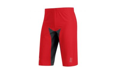 Gore ALP-X PRO Windstopper Soft Shell Shorts, red/black,L