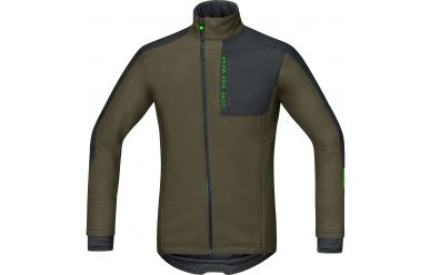 Gore POWER TRAIL Windstopper® Soft Shell Jacke, men, ivy green/black,L