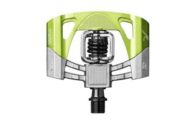 CrankBrothers Mallet 2 ohne Pins Klick/Plattformpedal inkl. Premium Cleats, Raw Lime Green