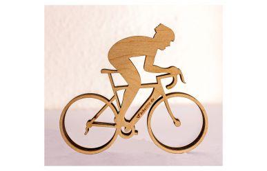 biketime BikerOnBike RennRad Holzfigur selbststehend B125mm x H110mm