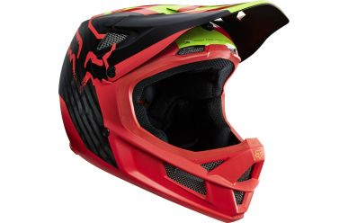 Fox Rampage Pro Carbon Fullface Fahrradhelm Red