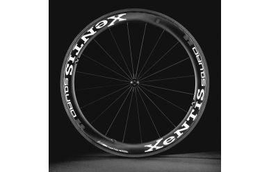 Xentis Squad 5,8 SilverLine Tubular Disc Laufradsatz 58mm HG-Freilauf 10/11 Black Matt