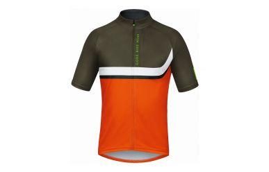 Gore POWER TRAIL Jersey, blaze orange/ivy green, L