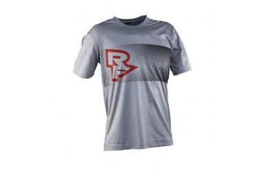 Race Face T-Shirt leichtes atmungsaktives Material Grey / Flame