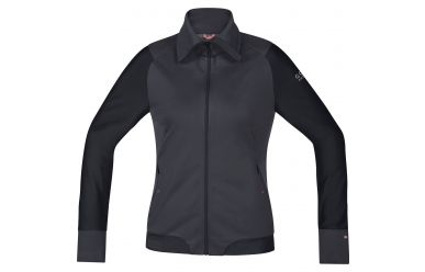 Gore Power Trail women Windstopper® Soft Shell Jacke raven brown/black 40