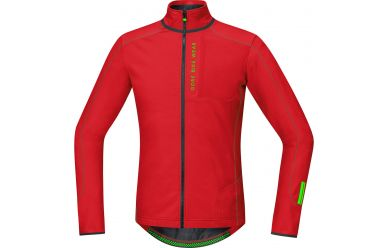 Gore Power Trail Thermo Langarm Trikot Red