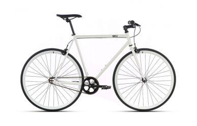 6KU Evian 1 52cm Singlespeed Fahrrad weiß mit weißem Laufrädern