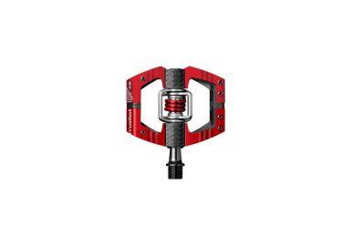 CrankBrothers Mallet E LS Enduro Plattformpedal inkl. Premium Cleats, rot, Paar