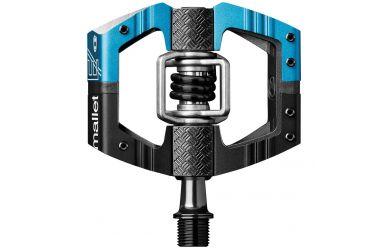 CrankBrothers Mallet E LS Enduro Plattformpedal inkl. Premium Cleats, schwarz/ electric blue, Paar